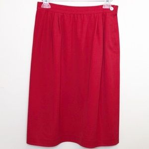 Vintage Valentino red pencil midi skirt EU SZ 46